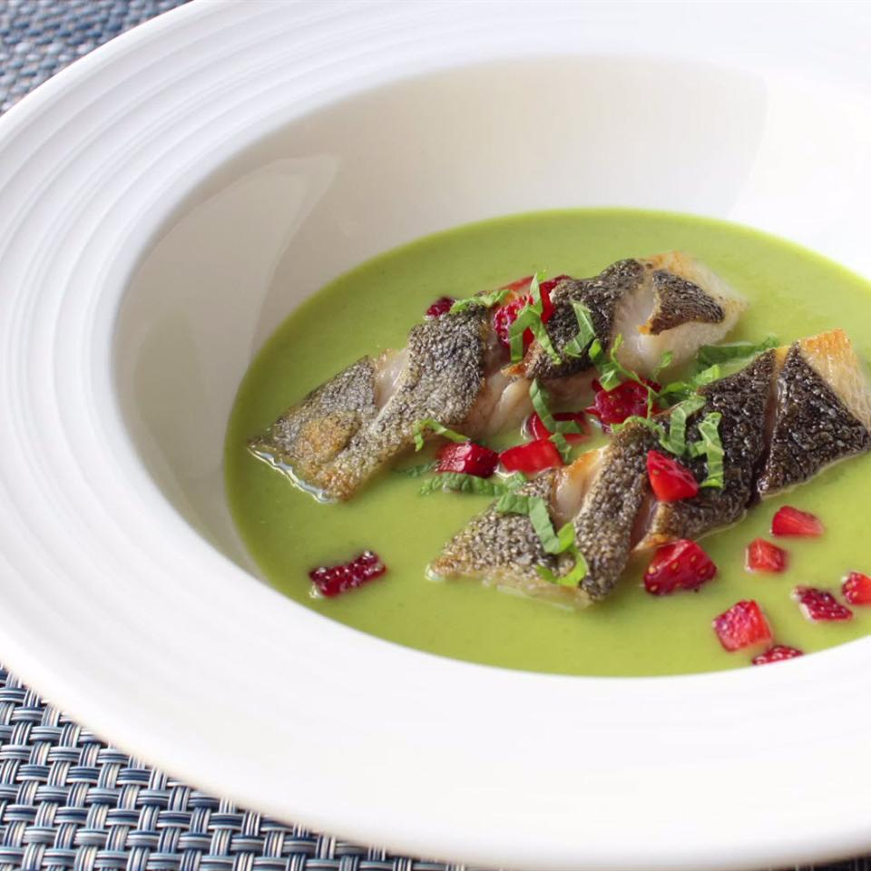 Spring Pea Green Curry with Black Cod and Strawberry Chef John