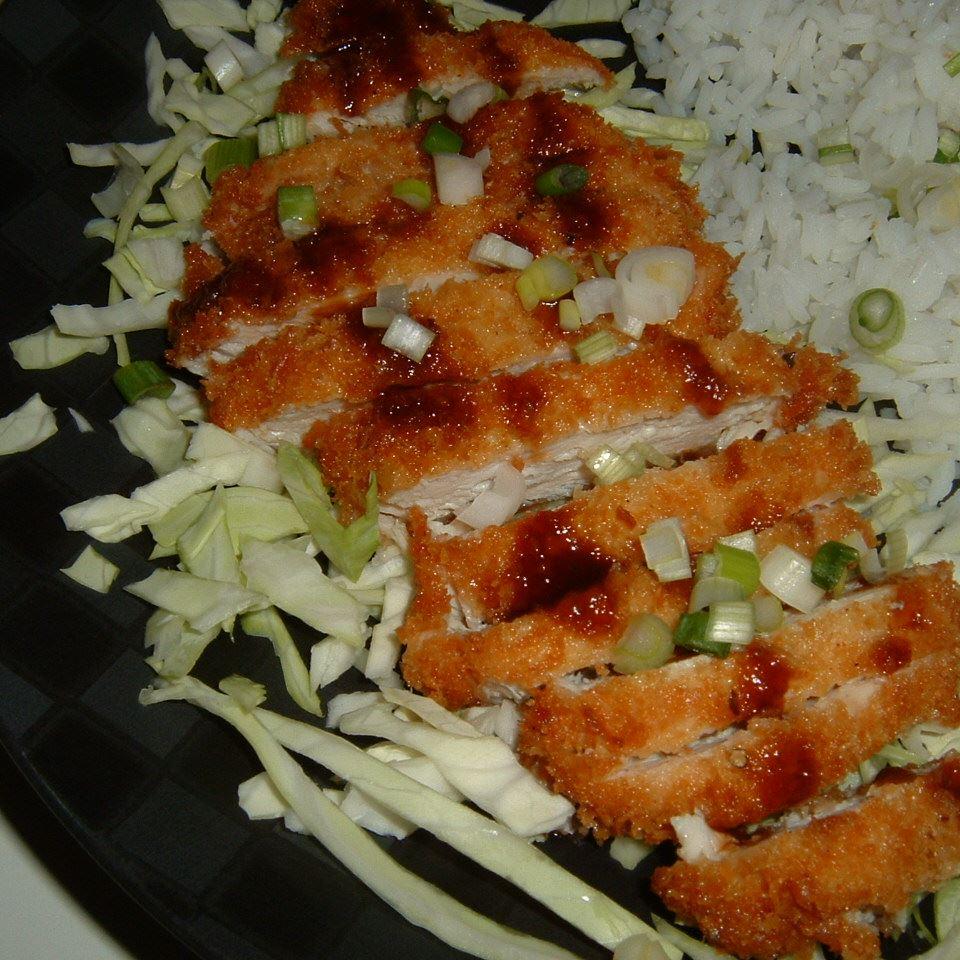 Ashley's Chicken Katsu with Tonkatsu Sauce BASKETBALLGIRL