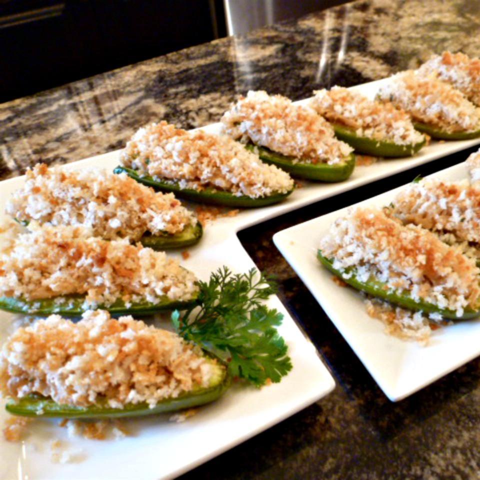 Cheesy Rice Stuffed Jalapeno Poppers
