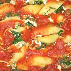 Pasta Shells Florentine