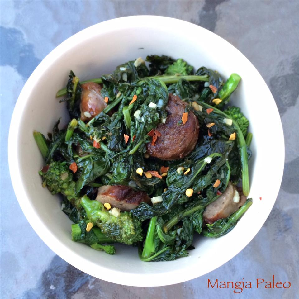 Paleo Broccoli Rabe and Sausage