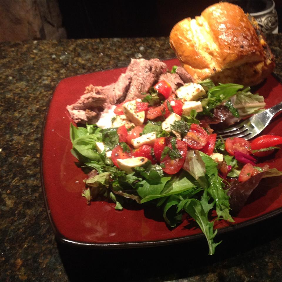 Caprese Salad with Grilled Flank Steak Sheila