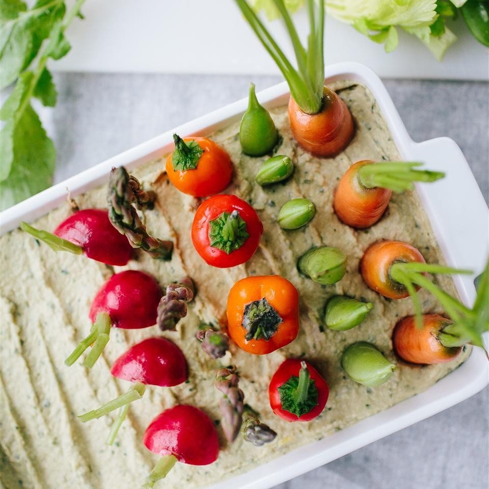 Spring Herb Hummus Vegetable Garden Allrecipes