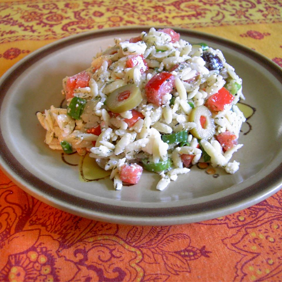 Orzo and Tomato Salad with Feta Cheese Tamara