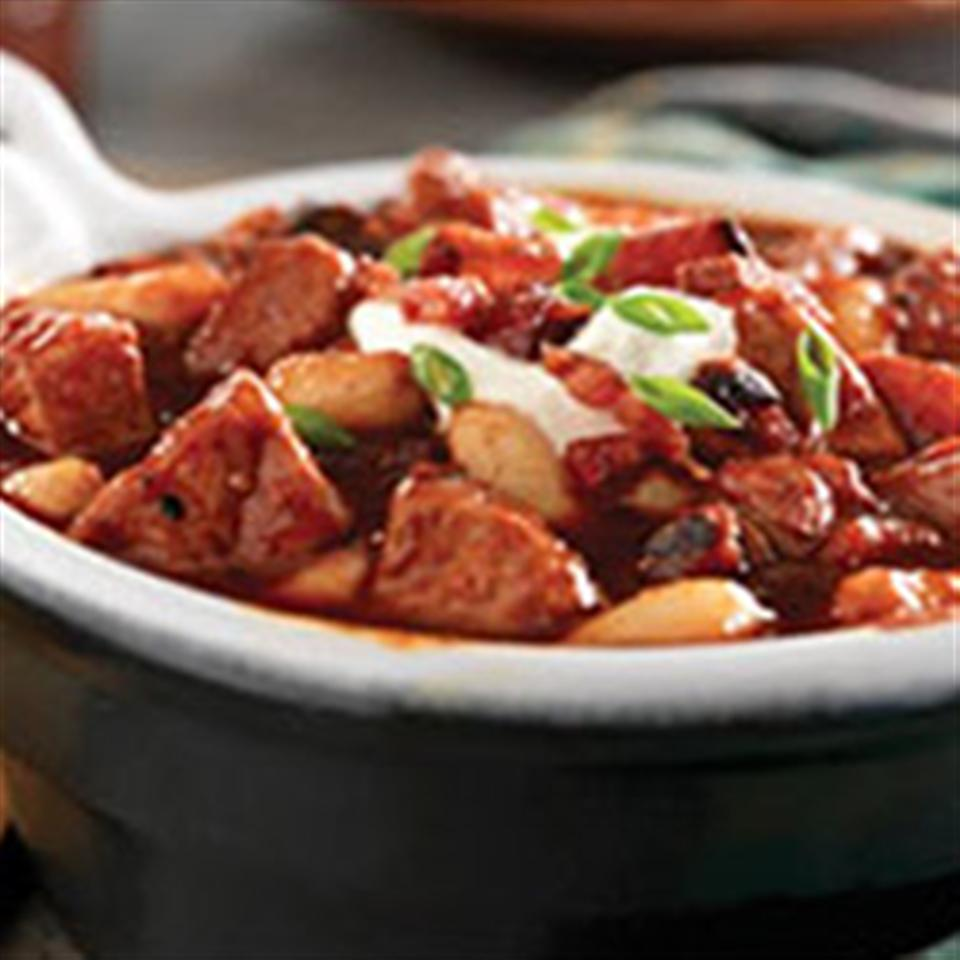 Smoky Pork, Bacon and White Bean Chili from Smithfield®