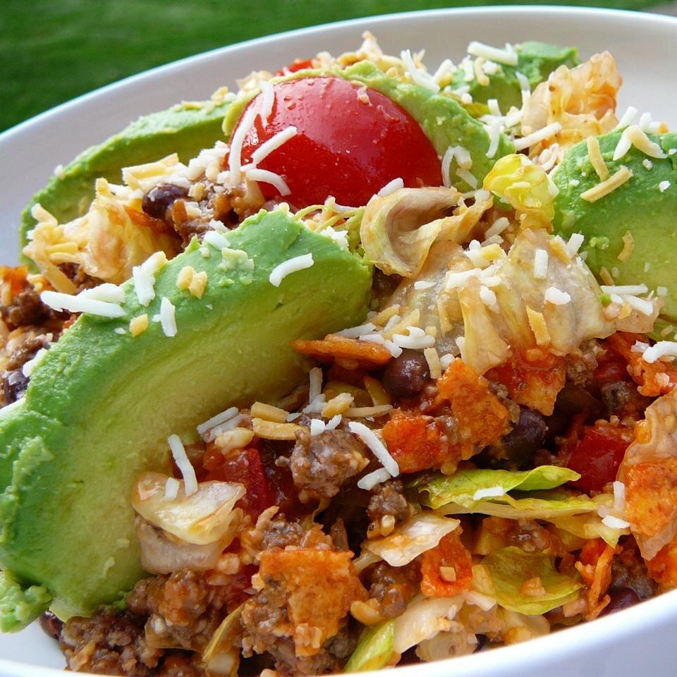 spicy dorito taco salad recipe