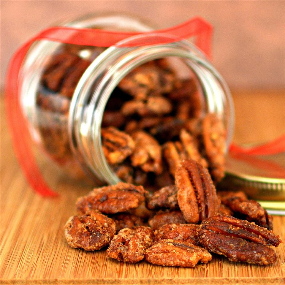 Crunching on these pecans, coated in cinnamon, cayenne, and sugar, satisfies pre-meal cravings. Better yet, you can bring a jar of this appetizer as a gift to your host, as our home cooks point out. Store in an airtight container for up to two weeks in the pantry or a month in the freezer.