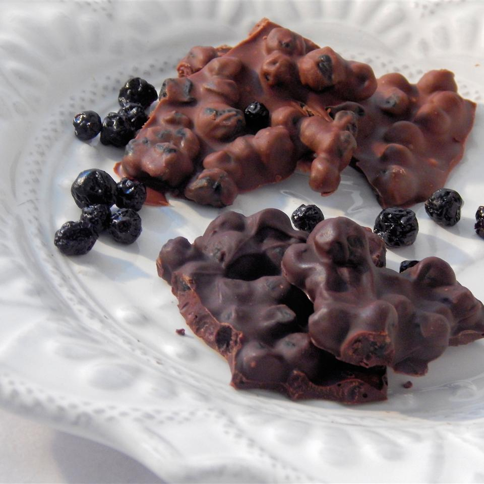 Chocolate Blueberry Bark