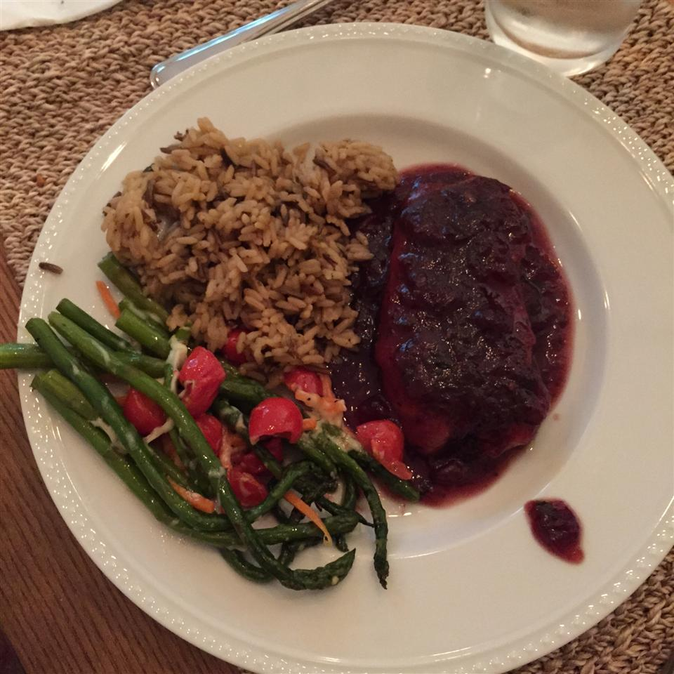 Pork Cutlets with Cranberry Wine Sauce