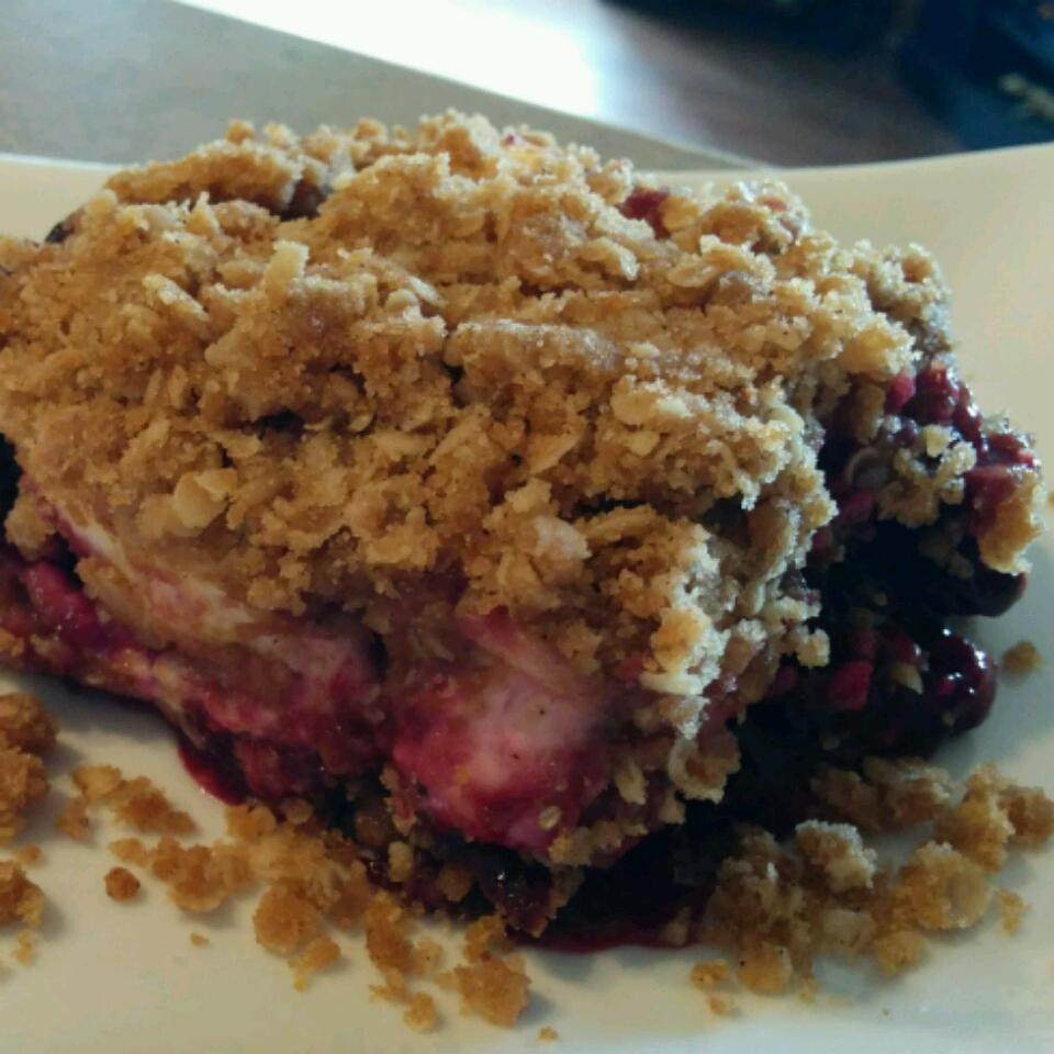 Saskatoon Berry Cream Cheese Crumb Cake Tannis