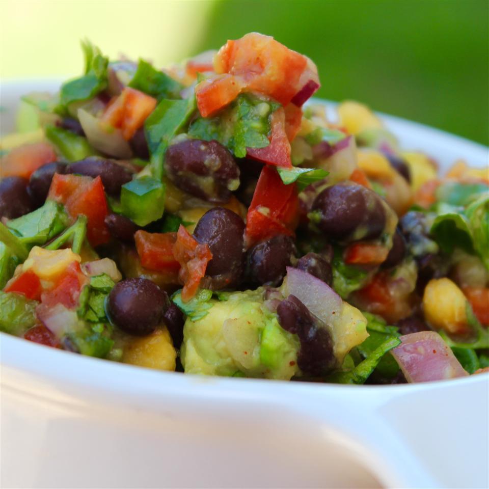 Black Bean Salad with Peaches