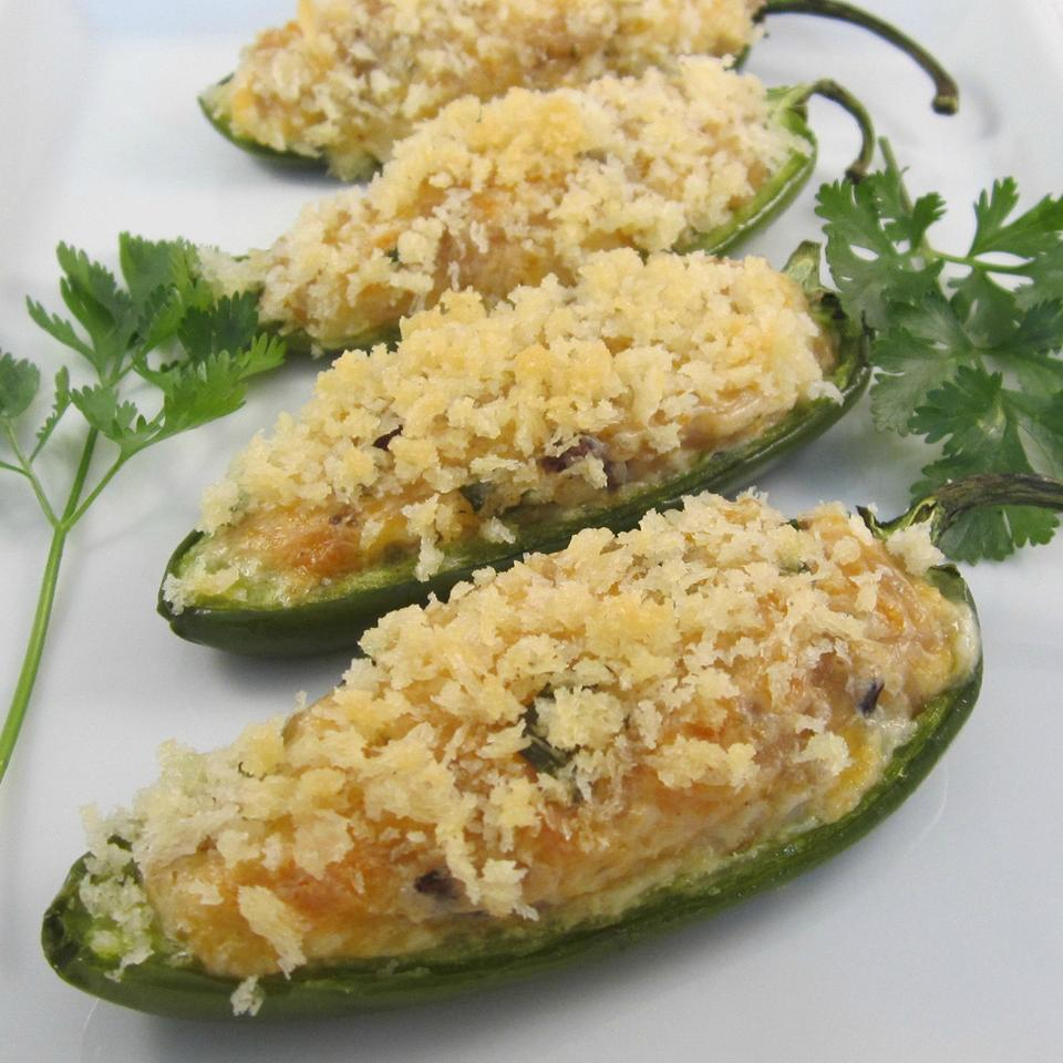 Cheesy Rice Stuffed Jalapeno Poppers Deb C