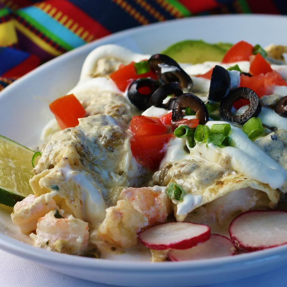 Quick Seafood Enchiladas