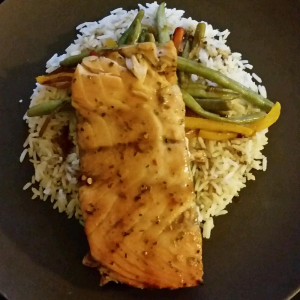 Spicy-Sweet Glazed Salmon