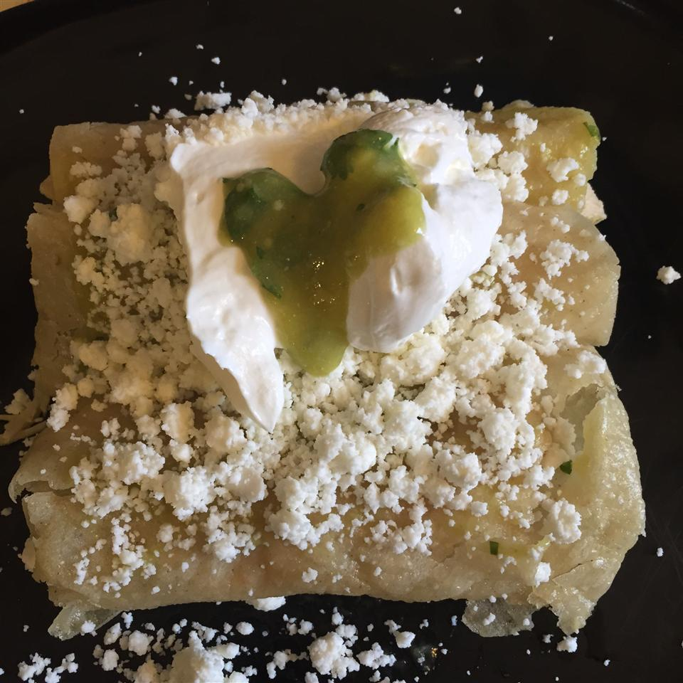 Authentic Enchiladas Verdes valeria