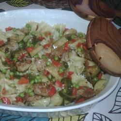 Sausage, Zucchini and Two Pepper Pasta Cass