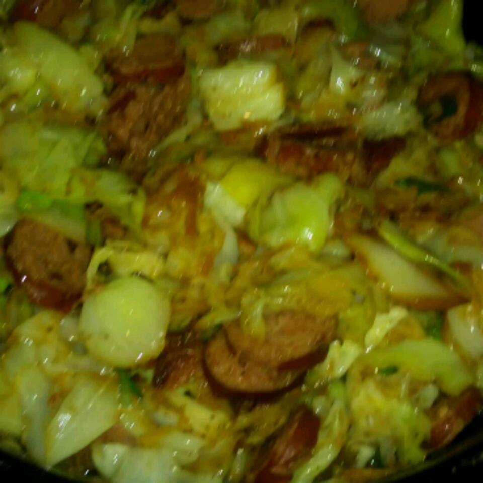 Fried Cabbage and Kielbasa childofgod2272