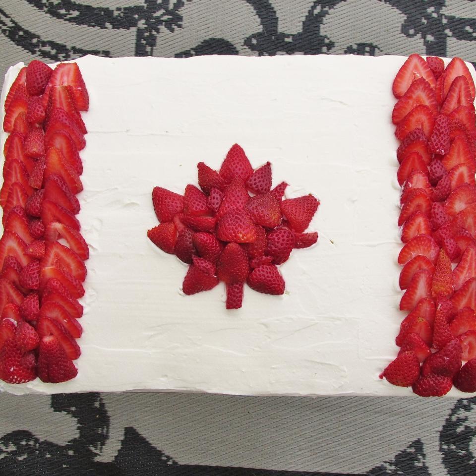 Canadian Flag Cake