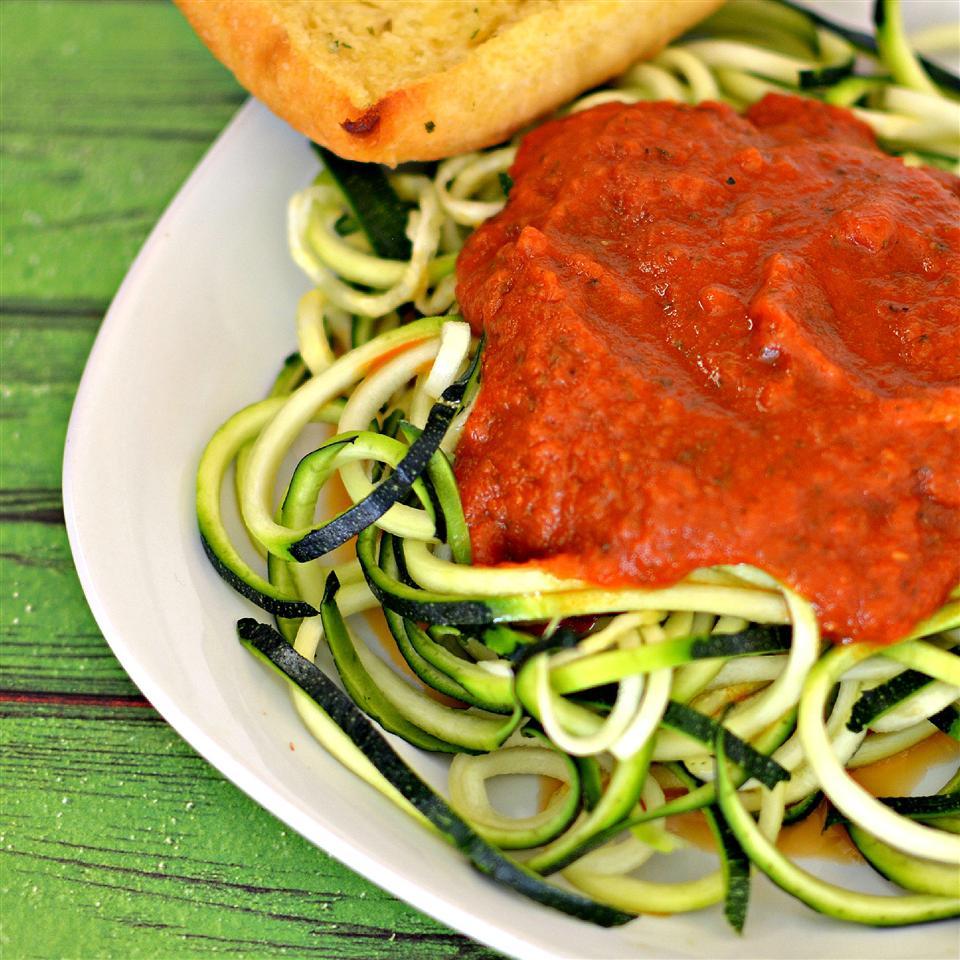 Zucchini Spaghetti alla Marinara
