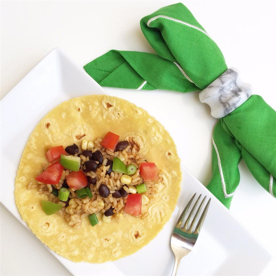Wild Rice, Corn, and Black Bean Quesadillas