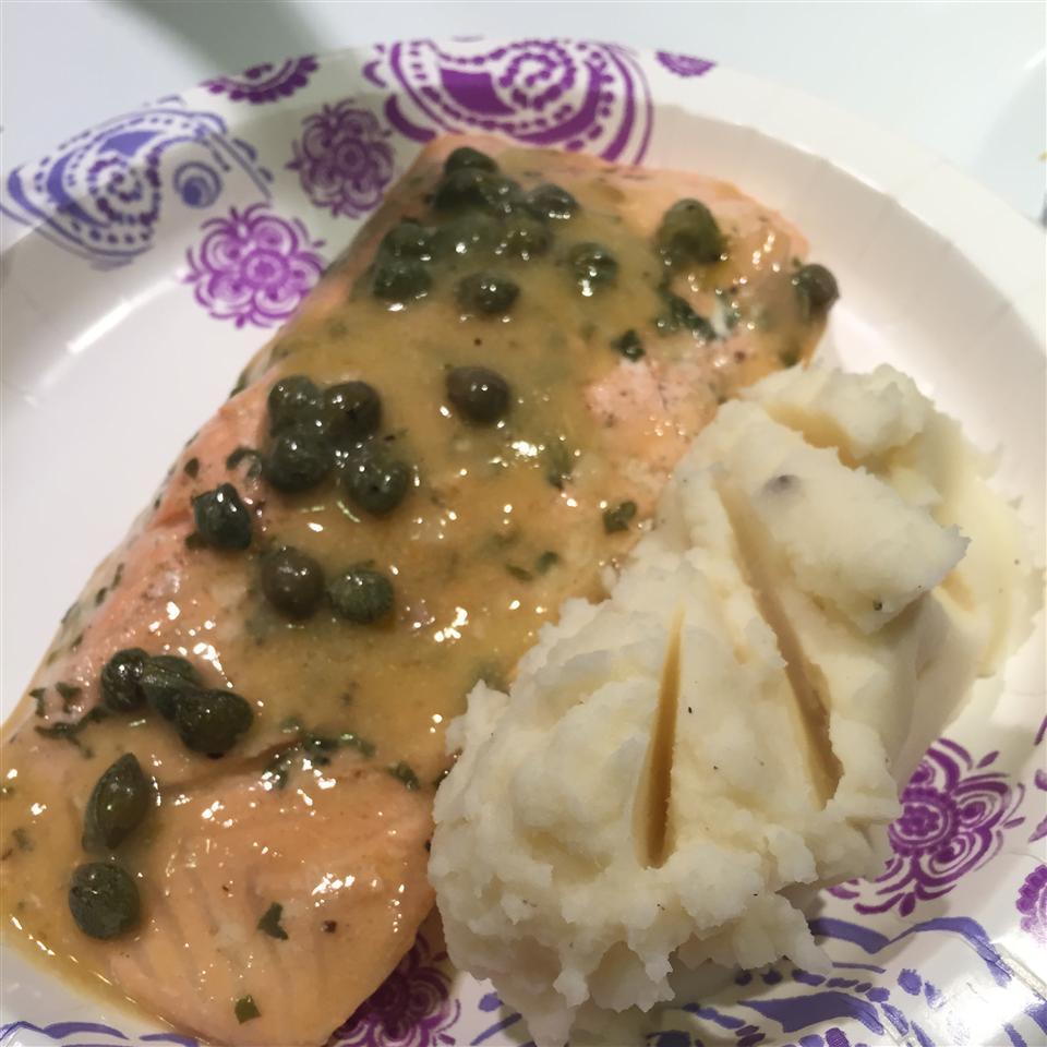 Pan-Poached Alaskan Salmon Piccata
