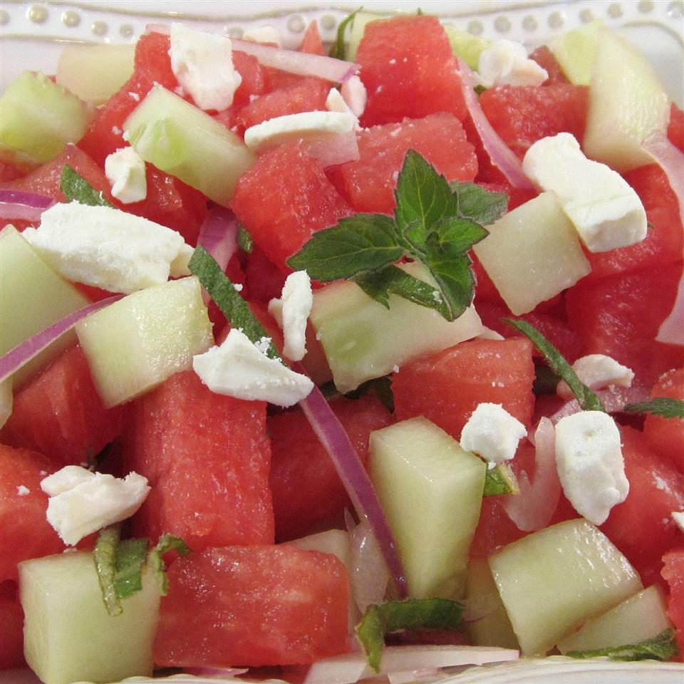 Refreshing Cucumber Watermelon Salad Deb C