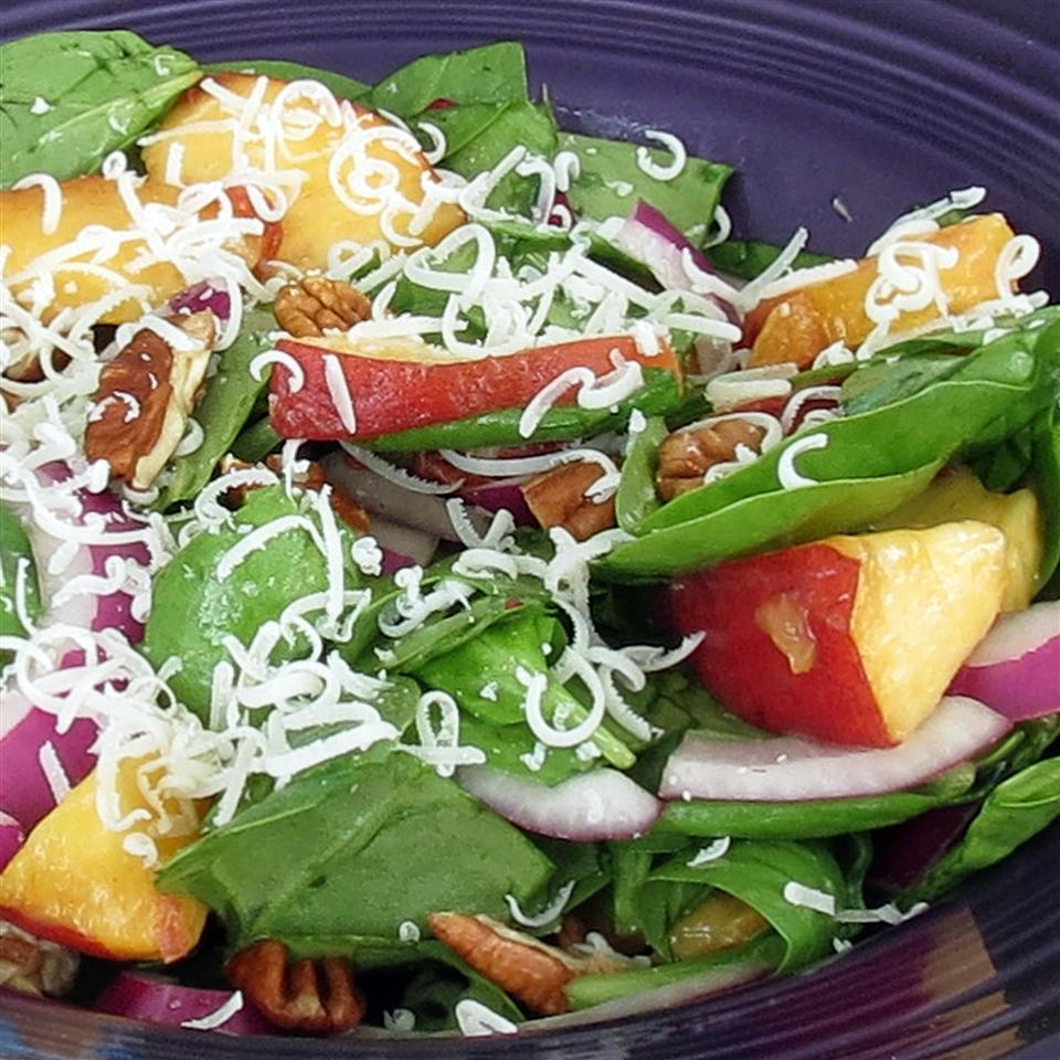 Peach Salad with Raspberry Vinaigrette linda2d
