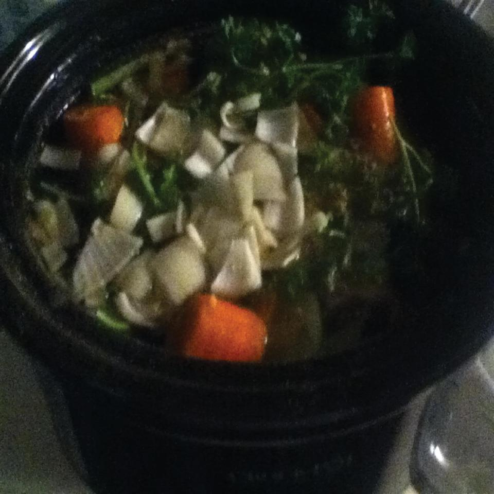 Chicken Broth in a Slow Cooker loves to cook ( and eat)