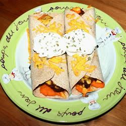 Addictive Sweet Potato Burritos