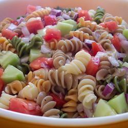Rainbow Pasta Salad II wannabe chefette
