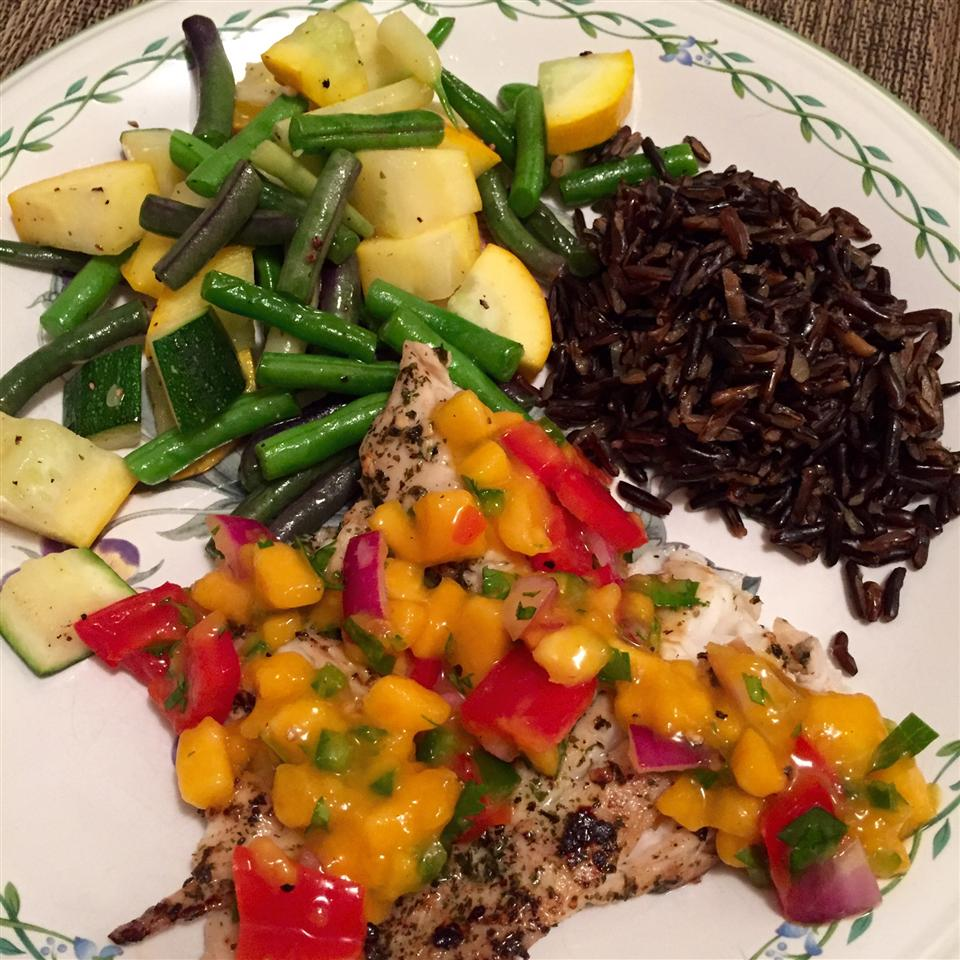 Grilled Tilapia with Mango Salsa Laura Swanson