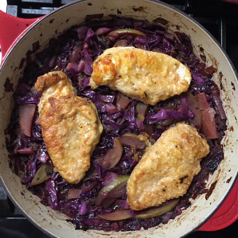 Oktoberfest Chicken and Red Cabbage m. martineau