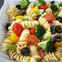 Rainbow Rotini Salad Dixie'sMom