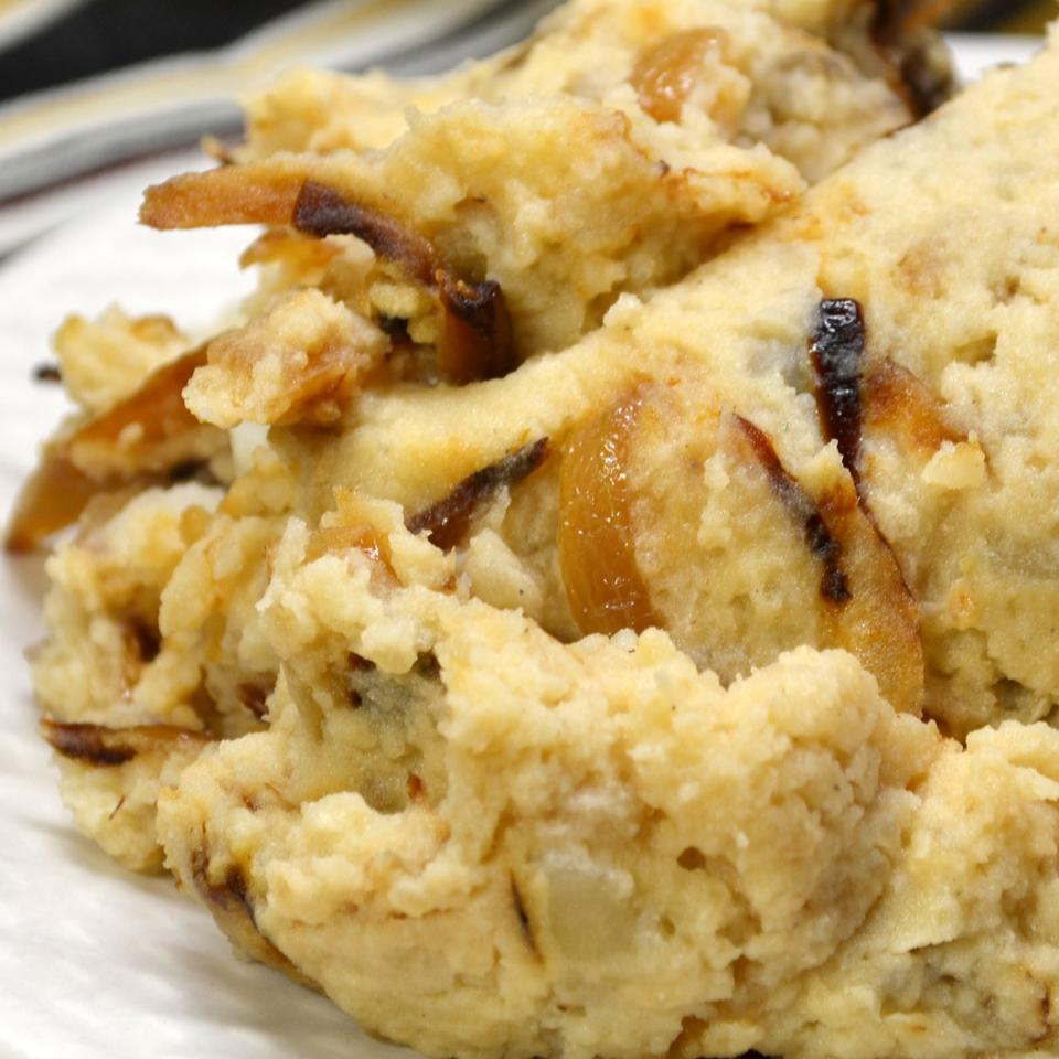 Caramelized Onion and Horseradish Smashed Potatoes *Sherri*