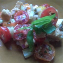 Tomato-Bread Salad with Basil and Capers SwissMiss