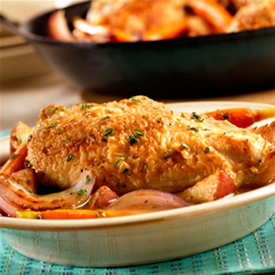 Pan-Roasted Chicken with Vegetables and Herbs