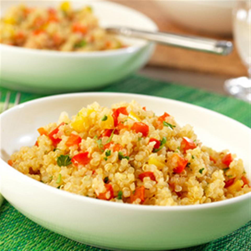 Quinoa and Pepper Pilaf