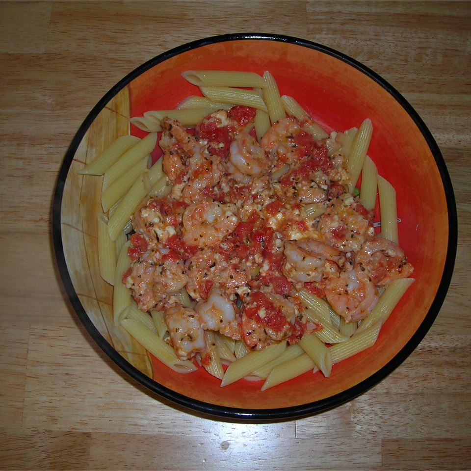 Shrimp and Feta Cheese Pasta seesha