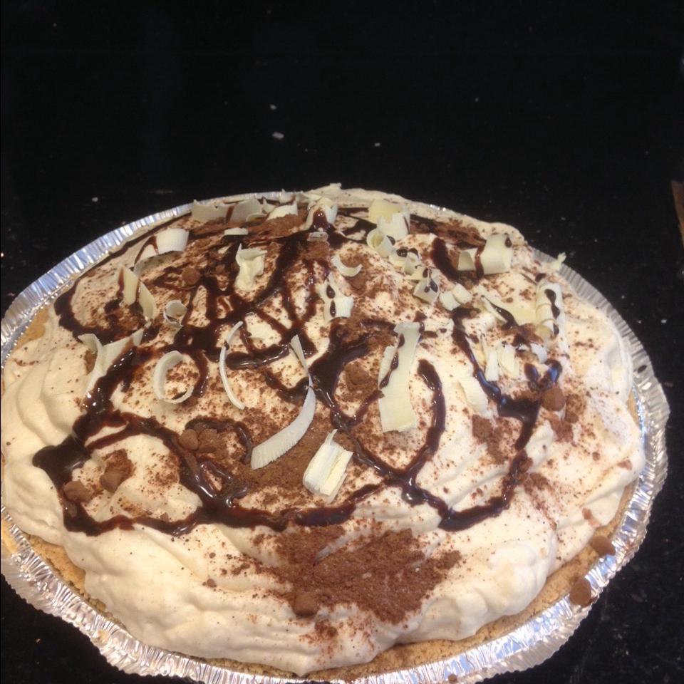Elegant White Chocolate Banana Cream Pie Sandy Kleinhenz