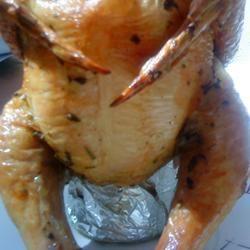 Beer Butt Rosemary Chicken