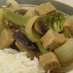 Tofu-Veggie Stir Fry and Gravy