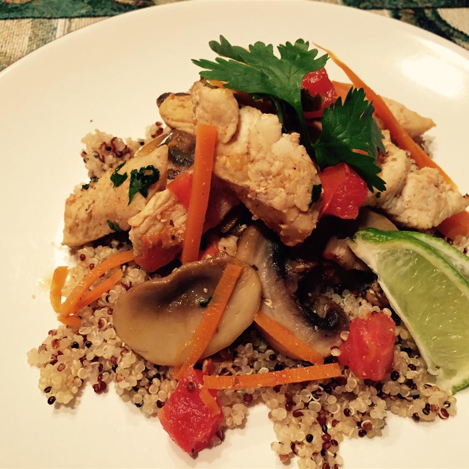 Thai Chicken Quinoa and Veggie Delight