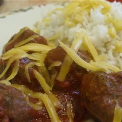Meatballs Mexicana and Rice Cindy Newell