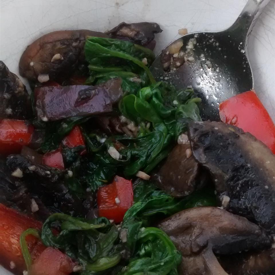 Sauteed Portobellos and Spinach