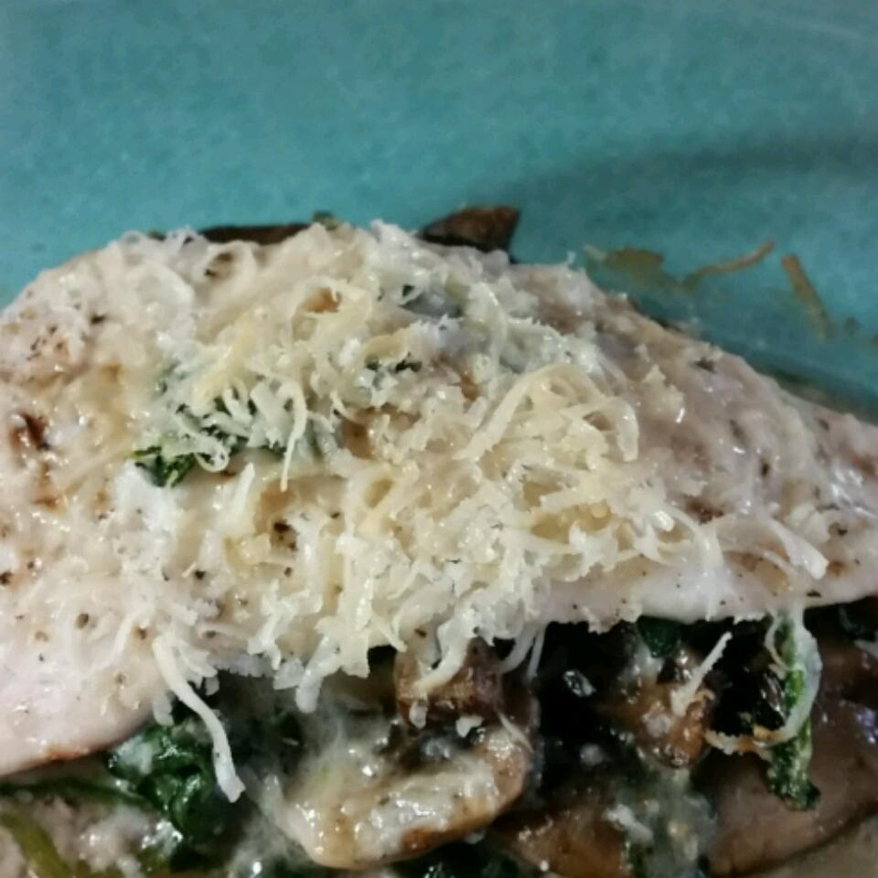 Spinach-Stuffed Flounder with Mushrooms and Feta Lesly Ann Marie Ball