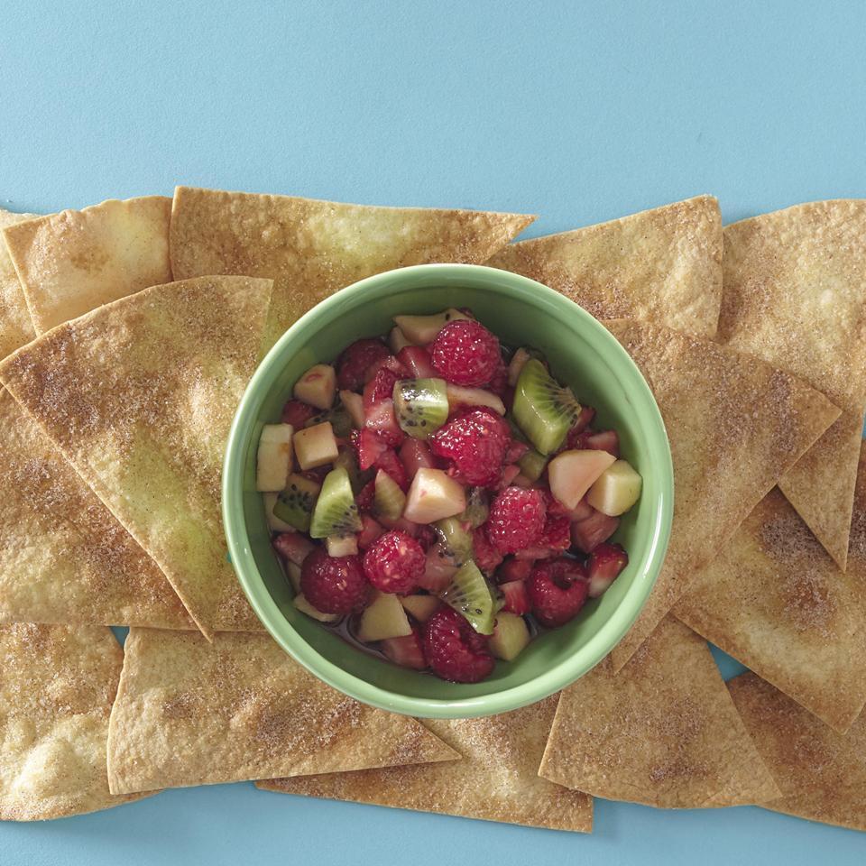 Annie's Fruit Salsa and Cinnamon Chips Allrecipes Magazine