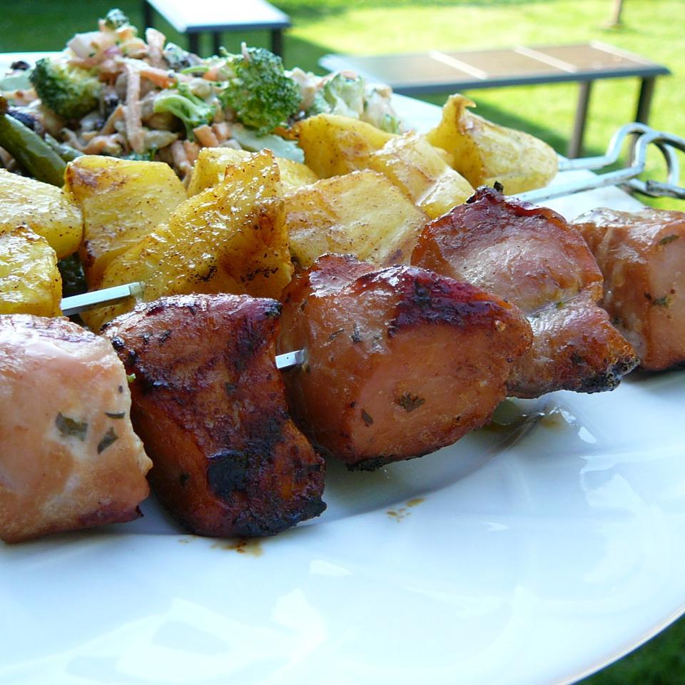 Barbecued Pork Kebabs Molly