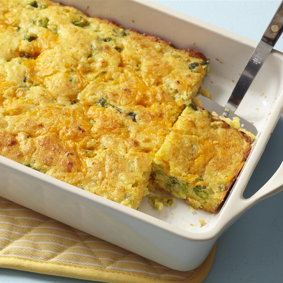 Broccoli Cornbread with Cheese Allrecipes Magazine