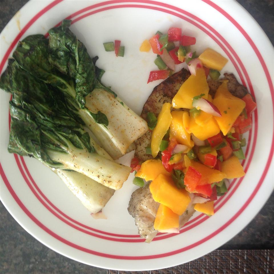 Grilled Tilapia with Mango Salsa Darvey