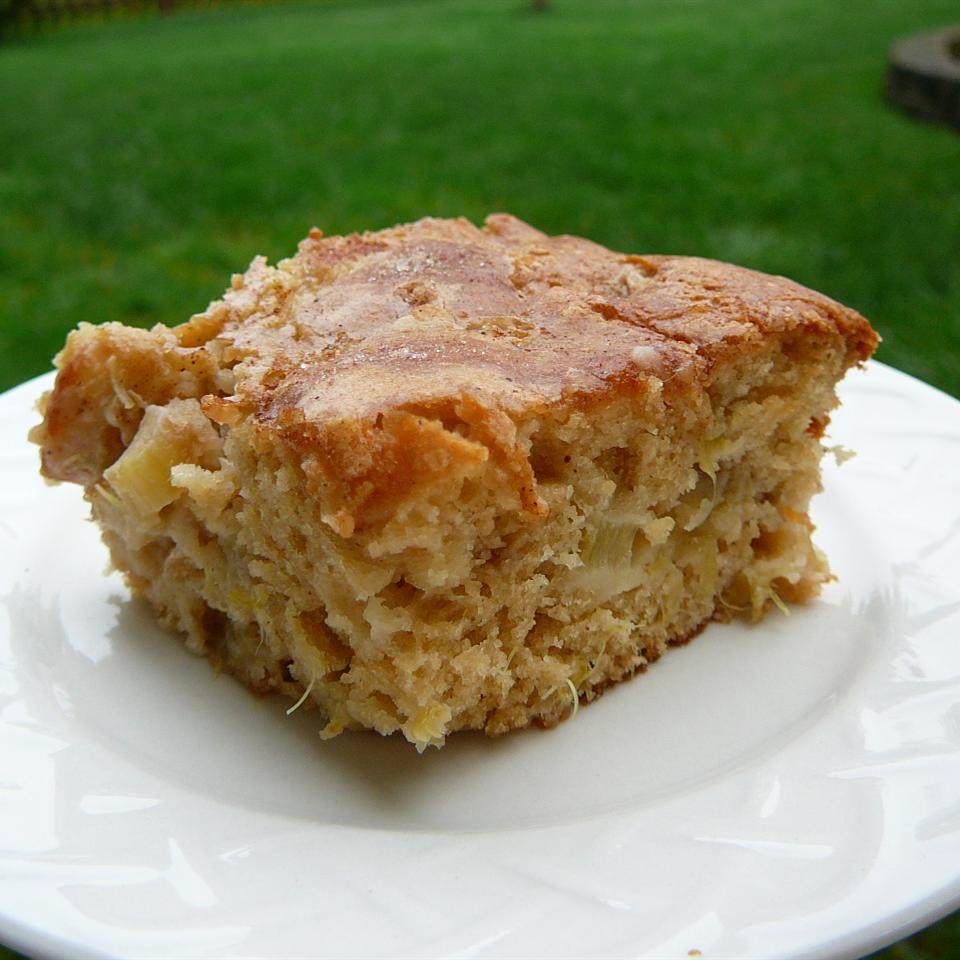 Rhubarb Stir Cake Deb
